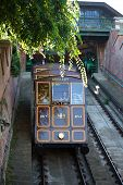 Funicular Tram Train Going To Buda Castle