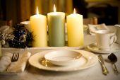Simple pero elegante Navidad tabla ajuste