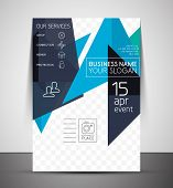 Business corporate flyer template | Abstract background