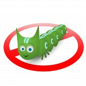 Green caterpillar pest runner