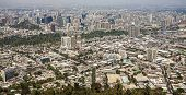 Panoramic View Of Santiago De Chile Downtown, Chile.