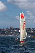 18 foot Skiff racing on Sydney Harbour