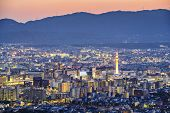 Kyoto, Japan modern skyline.