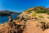 image of promontory  - The yellow promontory with the blue sky - JPG