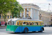 Retro Trolleybus In St. Petersburg
