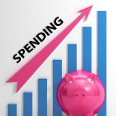 Spending Graph Means Costs Expenses And Outlay
