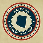 Vintage Label Arizona