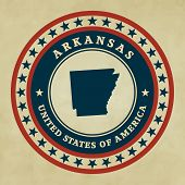 Vintage Label Arkansas