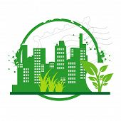 stamp green city