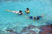 Children Snorkeling