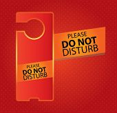 Do Not Disturb Sign - Red Hotel Door Warning Messages