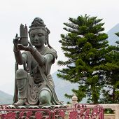 Buddhist Deva statue