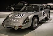 STUTTGART, GERMANY - CIRCA APRIL, 2014: Porsche Museum. PORSHE 356 B 2000 GS Carrera GT (1963)