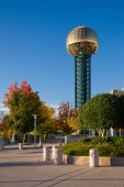 stock photo of knoxville tennessee  - Sunsphere and World - JPG