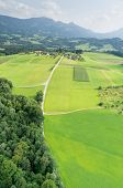An image of a flight over the bavarian landscape