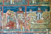 Fresco painting from Humor Monastery, Bucovina country (Romania)