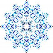 Blue Oriental Ottoman Design