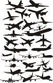 air plane silhouettes