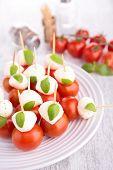 fingerfood, tomato and mozzarella