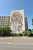 The portrait of Che Guevara in the Revolution Square
