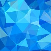 Abstract blue triangles vector background