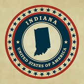 Vintage Label Indiana