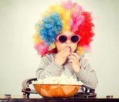 Clown With Pop Corn