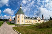 VALDAY, RUSSIA - AUGUST 19, 2012: Iversky Monastery in the Novgorod region. Monastery was founded by