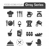stock photo of cake-mixer  - Food Icons Gray Series Four - JPG