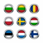 Flag Buttons Set3