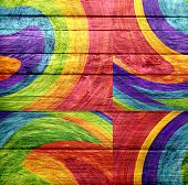 Graffiti wooden background