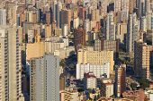 foto of costa blanca  - Full frame take of the skyscrapers of Benidorm Costa Blanca Spain - JPG