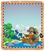 Pirate theme parchment 4 - eps10 vector illustration.