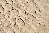 Cracked Sandy Desert Ground Background