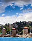 The Three Windmills - Rhodes Harbour Greece