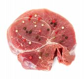 Crude Meat On White Isolated