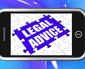 Legal Advice Tablet Shows Expert Or Lawyer Assistance Online