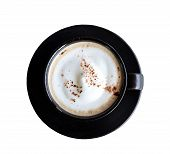 Top View Of Cappuccino Coffee