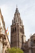 cathedral de Toledo structured in gothic sytle in Toledo Spain