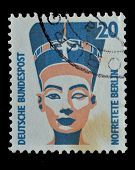 Germany Postage Stamp Shows The Head Of Queen Nefertiti
