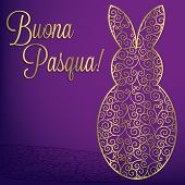 stock photo of pasqua  - Filigree Bunny  - JPG