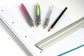 Notepad Pens Pencil Ruler