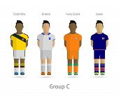 Football teams. Group C