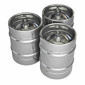 foto of keg  - Metal beer kegs  - JPG