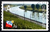 Postage Stamp Luxembourg 2005 Vineyard Along Moselle River