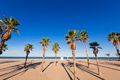 Gandia playa nord beach in Valencia at Mediterranean Spain