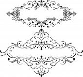 Set Of Two Vintage Ornate Curves Elements