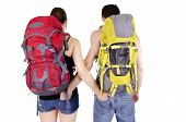 Couple in expedition