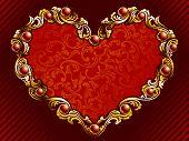 Elegant valentine background with rubies