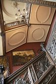 LONDON, RICHMOND UK - APRIL 05, 2014  Richmond duke house interior, 17th century mansion with park,